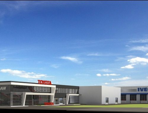 """""""Multifunctional building for offices, car services and storage in the town of Sofia"""""""